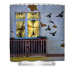Shower Curtain featuring the photograph A Window by Vladimir Kholostykh