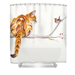 A Winter Meeting Shower Curtain