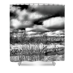 Shower Curtain featuring the photograph A Winter Panorama by David Patterson