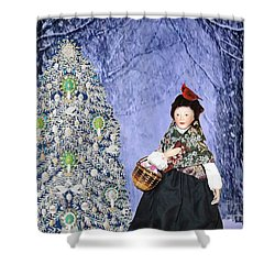 A Winter Walk Shower Curtain by Lyric Lucas