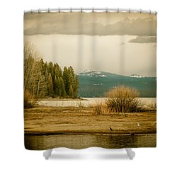 A Winter's Idyll Shower Curtain