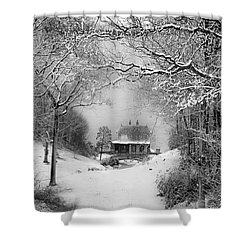 A Winter's Tale In Centerport New York Shower Curtain