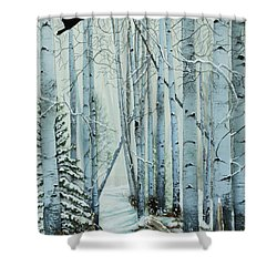 A Winter's Tale Shower Curtain by Stanza Widen
