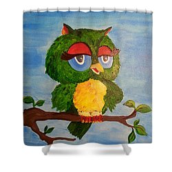 A Wise Bird Shower Curtain
