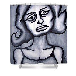 A Woman Shower Curtain