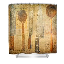 A Woman's Tools Shower Curtain by Lisa Noneman