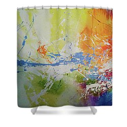 A Wonderful Journey Through The Present  Shower Curtain