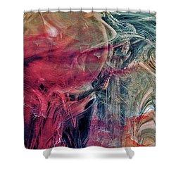 Shower Curtain featuring the digital art A World Beyond by Linda Sannuti