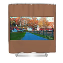 A World With Octobers Shower Curtain