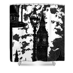 Shower Curtain featuring the digital art A World Without Colour by Fine Art By Andrew David