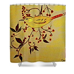 A Wren - In Pastel  Shower Curtain