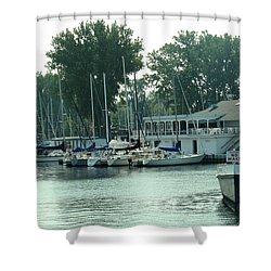 A Yacht Club Shower Curtain