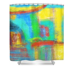 Shower Curtain featuring the painting A Yellow Day by Susan Stone
