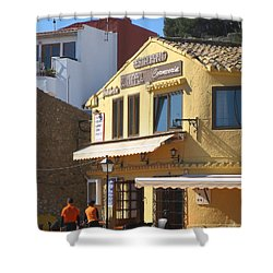 Shower Curtain featuring the photograph A Yellow Morning In Spain  by Suzanne Oesterling