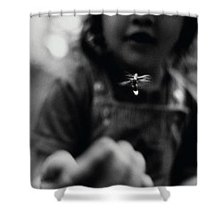 A Young Girl Reaches Out For Firefly Shower Curtain