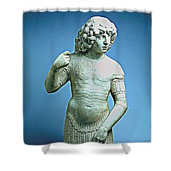 a young warrior tullio lombardo poster 2 shower curtain