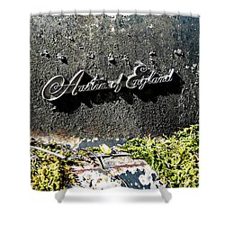 A40 Somerset Car Badge Shower Curtain