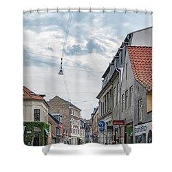 Shower Curtain featuring the photograph Aarhus Urban Scene by Antony McAulay