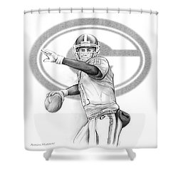 Aaron Murray Shower Curtain by Greg Joens