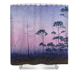 Abaco Pines At Dusk Shower Curtain