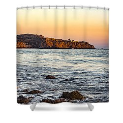 Shower Curtain featuring the photograph Abalone Point Sunset by Anthony Baatz