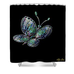 Abalonefly Shower Curtain