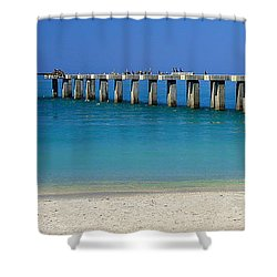 Abandond Pier Shower Curtain by Sean Allen