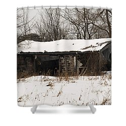 Abandoned And Cold Shower Curtain by Elaine Mikkelstrup
