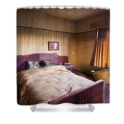 Abandoned Bedroom - Urban Exploration Shower Curtain