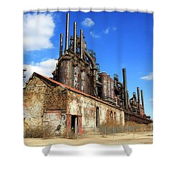 Abandoned Bethlehem Steel Shower Curtain