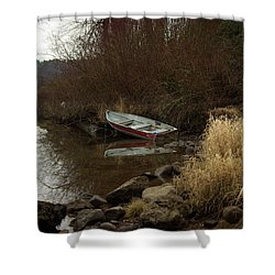 Abandoned Boat II Shower Curtain