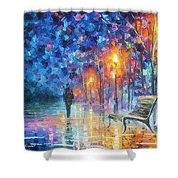 Abandoned By Winter Shower Curtain by Leonid Afremov