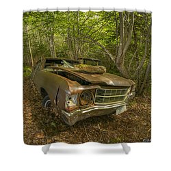 Abandoned Chevelle In Cape Breton Shower Curtain by Ken Morris
