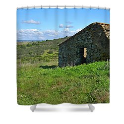 Abandoned Cottage In Alentejo Shower Curtain by Angelo DeVal