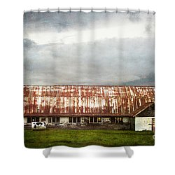 Abandoned Dairy Farm Shower Curtain