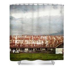 Abandoned Dairy Farm Shower Curtain