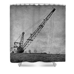 Abandoned Dragline Shower Curtain
