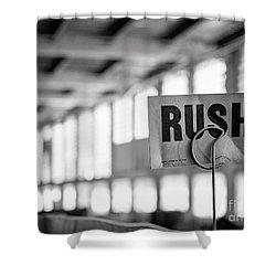 Abandoned Factory, Lewiston, Maine  -48683-bw Shower Curtain