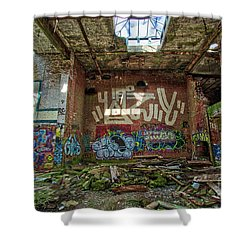 Shower Curtain featuring the photograph Abandoned Factory Newport New Hampshire by Edward Fielding