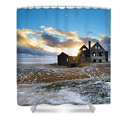 Abandoned Farm On The Snaefellsnes Peninsula Shower Curtain