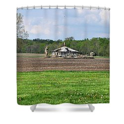 Shower Curtain featuring the photograph Abandoned Farmhouse by John Black