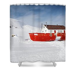 Abandoned Fishing Boat Shower Curtain
