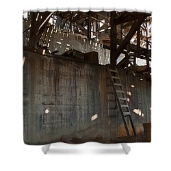 Shower Curtain featuring the photograph Abandoned by Fran Riley