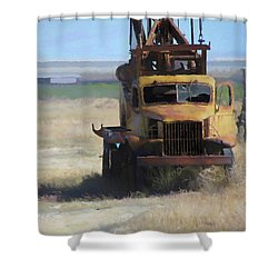 Abandoned Gmc Drill Rig Shower Curtain