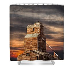 Abandoned Grain Elevator On The Prairie Shower Curtain