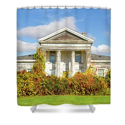 Abandoned Greek Revival Shower Curtain