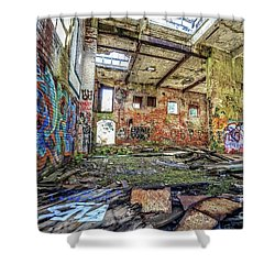 Shower Curtain featuring the photograph Abandoned Hartford Woolen Mill Newport New Hampshire by Edward Fielding