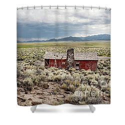 Abandoned Homestead Shower Curtain by Melany Sarafis