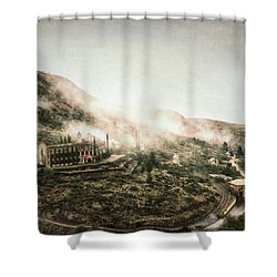 Abandoned Hotel In The Fog Shower Curtain