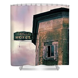 Shower Curtain featuring the photograph Abandoned Hotel by Jill Battaglia